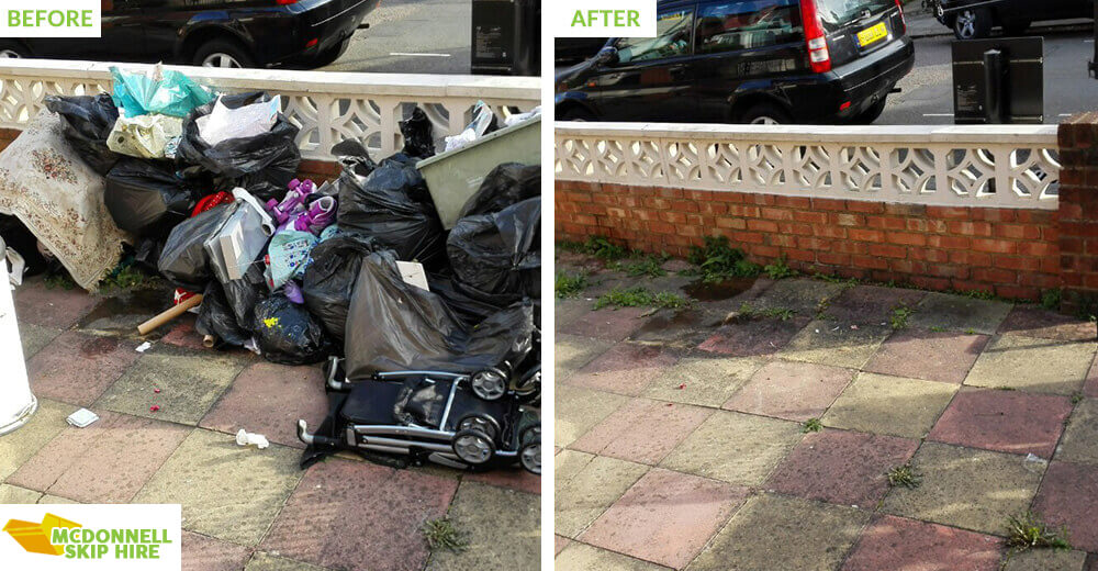 rubbish disposal in North Finchley