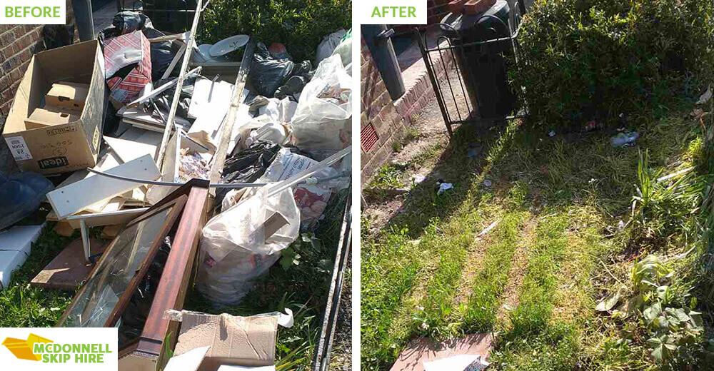 rubbish disposal in Dagenham