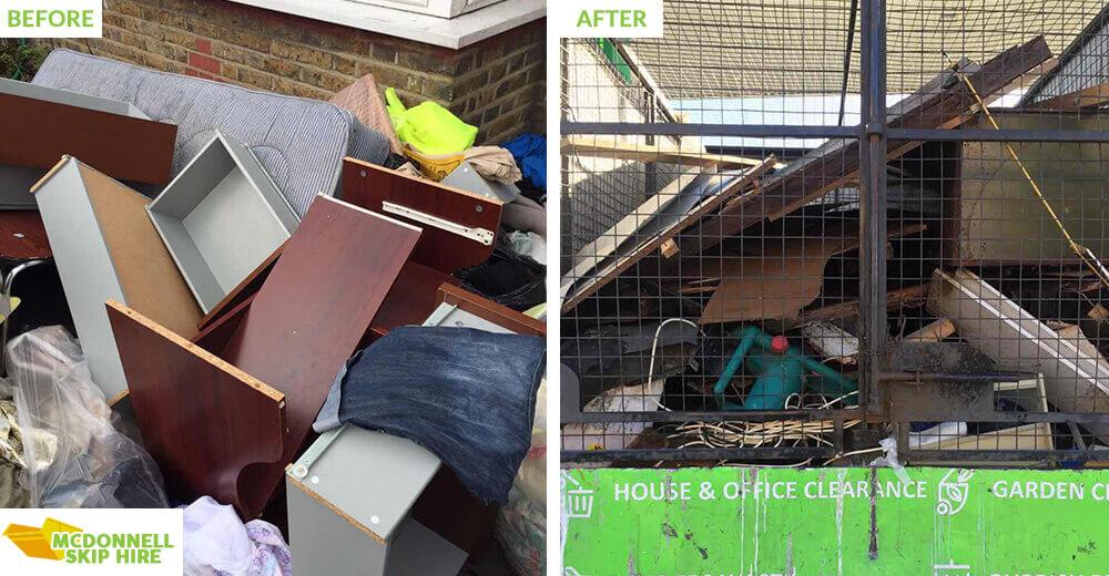 rubbish disposal in Battersea