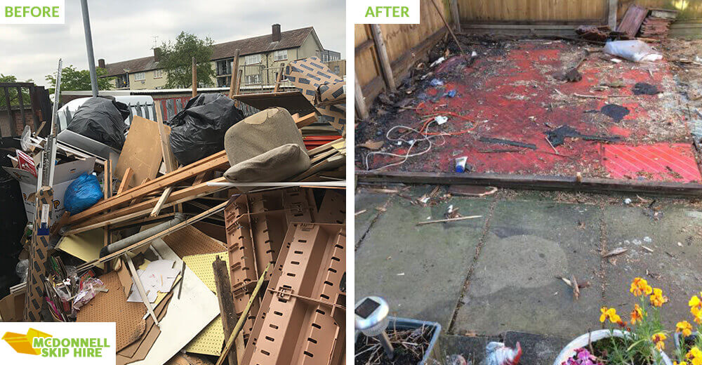 rubbish disposal in Furzedown
