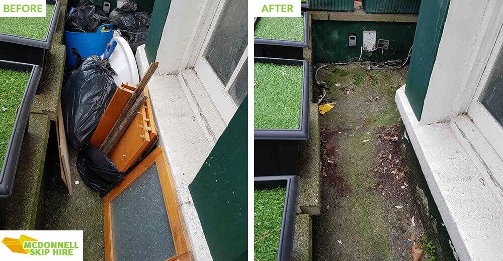 W1 rubbish clearance Fitzrovia